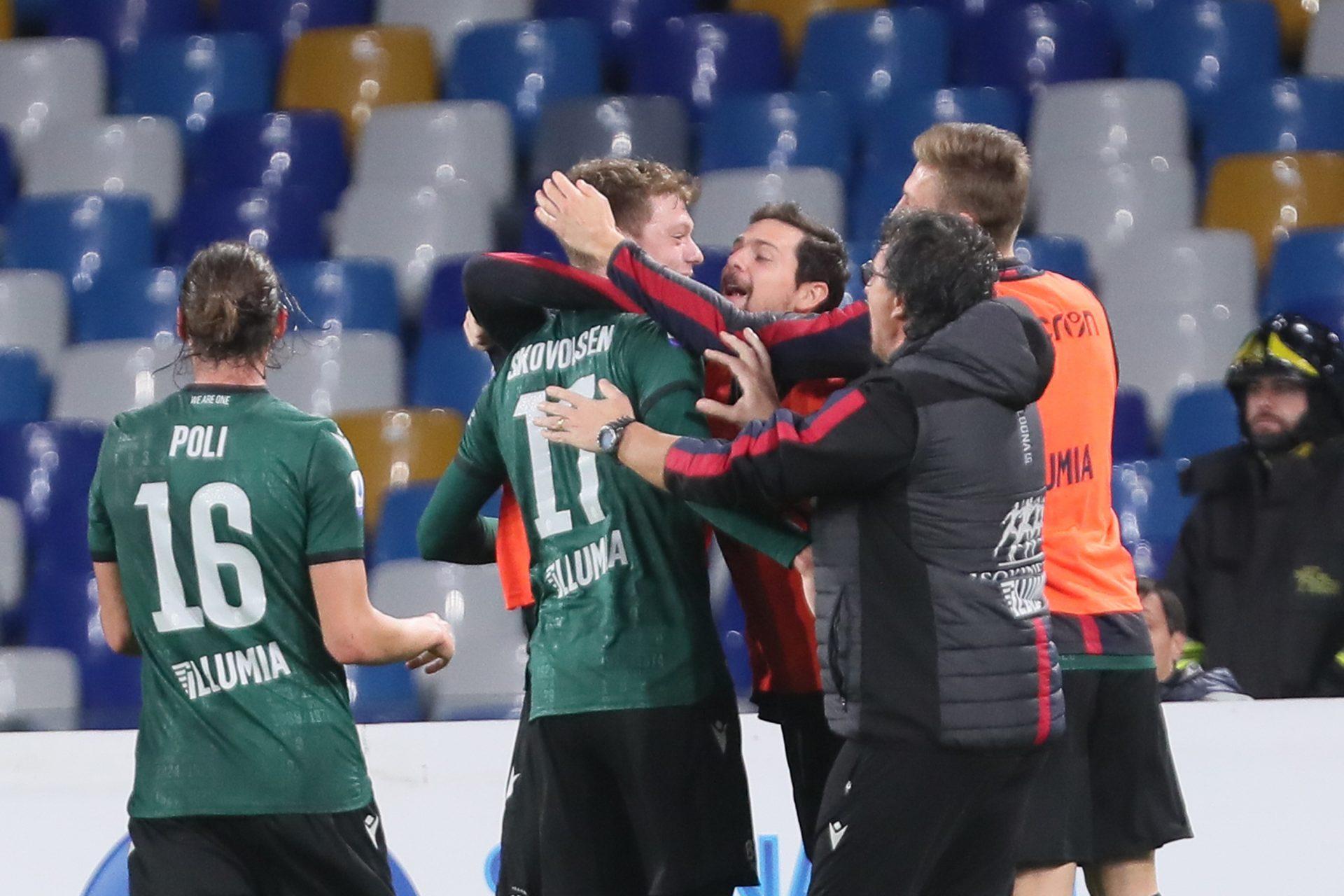 Le dichiarazioni di Olsen, Skorupski e De Leo dopo la grande vittoria contro il Napoli