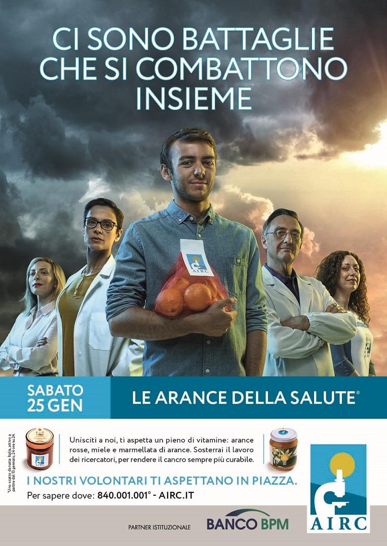 Prevenzione al cancro: il 25 Gennaio in oltre 3000 piazze d'Italia tornano le arance della salute della Fondazione AIRC