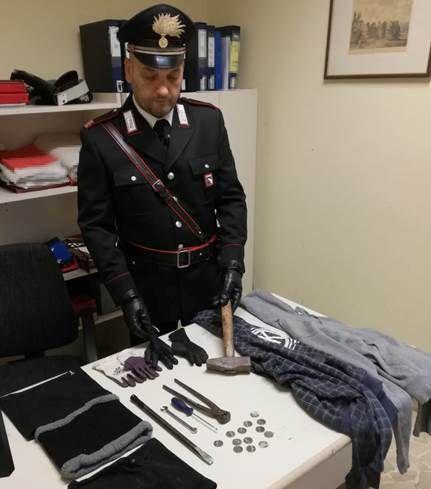 Servizio di contrasto ai furti in appartamento: arrestato dai Carabinieri in via Andrea Costa