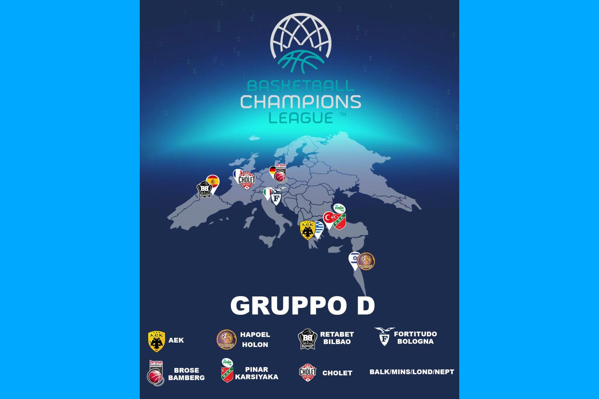 Sorteggio gironi BCL: la Fortitudo Bologna nel Gruppo D. Il commento di Meo Sacchetti e Marco Carraretto