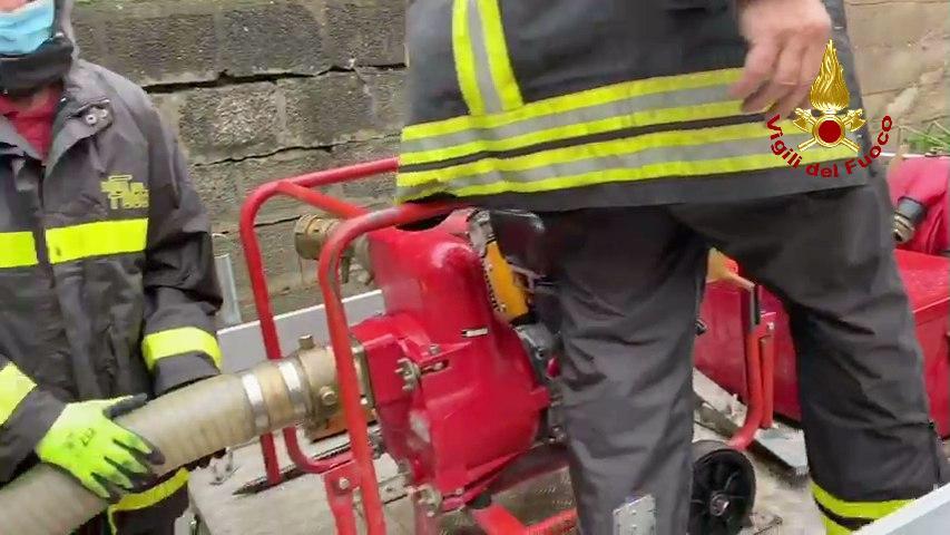 Danni da maltempo a Gaggio Montano: intervengono i Vigili del Fuoco