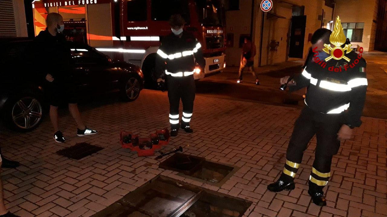 Sversamento di gasolio nel torrente: a Vergato intervengono i Vigili del Fuoco